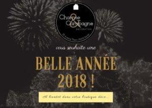 voeux 2018 pleine de décoration en Périgord